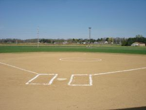 Photo of Softball Field Diamond from Home Plate